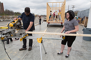 "Students from across the university take ""Think Through Make: an Interdisciplinary Approach,"" a design course to build a tiny house."